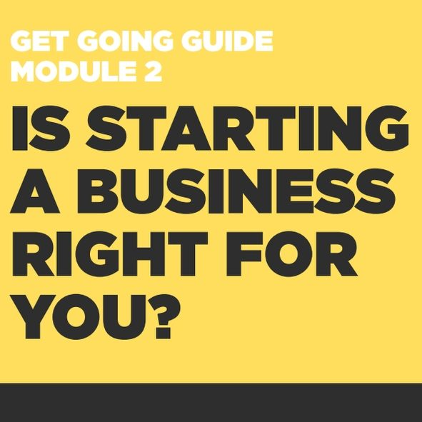 GET GOING GUIDES Module 2: Is Starting A Business Right For You?